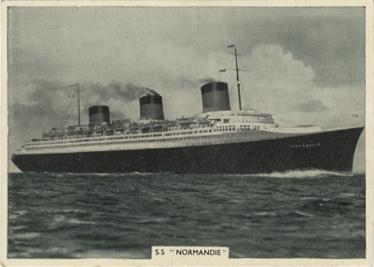 Paquebot Normandie - Carte cigarettes ARDATH TOBACCO - N12