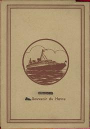 Paquebot Normandie - Carnet de photos petit format anonyme - Série 1 - Couverture