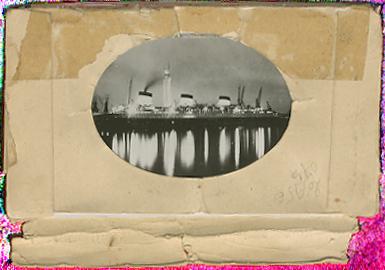Paquebot Normandie - Carnet de photos petit format anonyme - Série 2 - Etui Verso