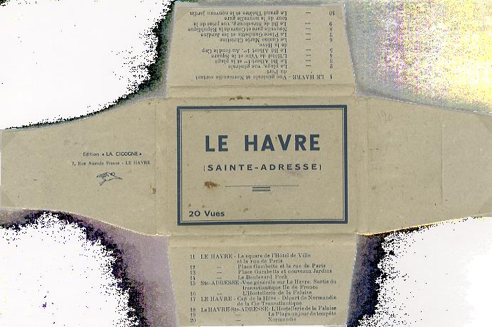 Paquebot Normandie - Carnet de photos petit format - Editeur : LA CIGOGNE - Pochette ouverte