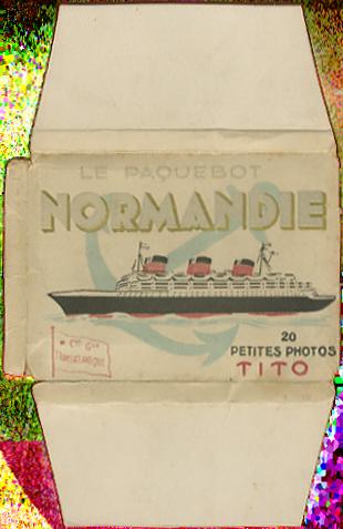 Paquebot Normandie - Carnet de photos petit format - Editeur : TITO - Carnet 6 : Etui extérieur
