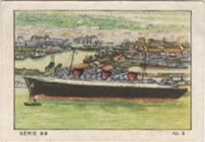 Paquebot Normandie - Carte de collection publicitaire - Petit format France CHOCOLAT NESTLE - N3