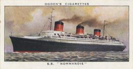 Paquebot Normandie - Carte cigarettes OGDEN`S - N40
