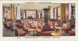 Paquebot Normandie - Carte cigarettes OGDEN`S - N41