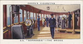 Paquebot Normandie - Carte cigarettes OGDEN`S - N42