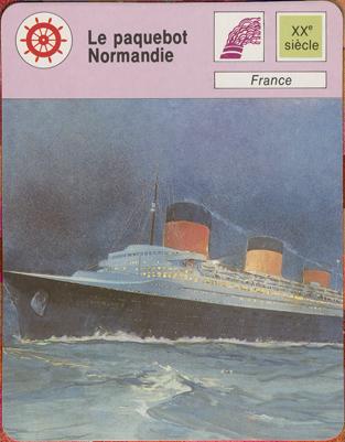 Paquebot Normandie - Fiche d`éditeur de collection ROBERT LAFFONT