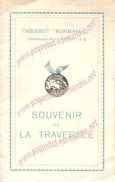 PAQUEBOT S.S NORMANDIE - Carte-souvenir de la traversée du 15 au 20 Juin 1935